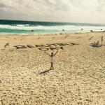 The beach has a message every morning made from seaweed piles the staff gathers up.