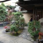 Courtyard at entrance of ryokan