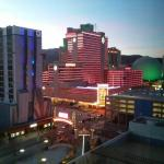 View from our West Tower room at Harrahs Reno.