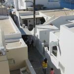 """The hotel is right next to the footpath to Thira town and the """"caldera walk"""""""