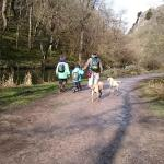 Walking in dovedale, short trip from The Royal Oak and fuelled by great breakfast, 10k in mixed