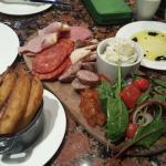 Our meat platter in the Brasserie