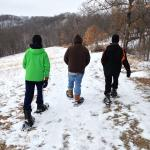 Snowshoeing the trails