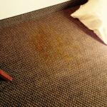 Major stain on carpeting