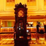 The clock that kept perfect time while being so beautiful in the lobby.