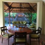 Dining and seating area in two bedroomed villa
