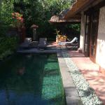 Private pool in two bedroomed villa