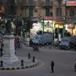 Security presence on Talaat Harb Square