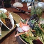 Bar restaurant tacos and salad.