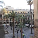Placa Reial - view from Hotel DO balcony