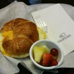 Ham & cheese croissant at The Bistro, breakfast menu.