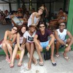 Turma no hostel de SP e MG.