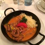 Veal with basmatic rice