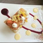 fruits exotique en mille feuille