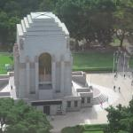 Hyde Park & ANZAC memorial from 13th floor.