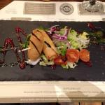 Goats cheese spring rolls...