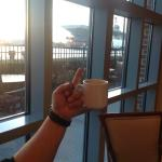 My Flip off Friday shot for my Roof Rat Veterans Group. Having coffee with the Navy behind me...