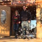 "Our wedding day on 02-14-2015 at ""Chapel of the Angels"" Pastor Mike Mercer officiating and his l"