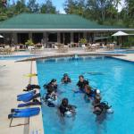 scuba training in the pool