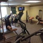 Fitness Center. No free weights/dumbbells but good variety of machines.