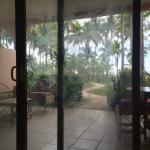 View from room out to beach
