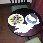 Cake/Fruits for us