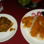 King fish curry and chicken xucati at food land
