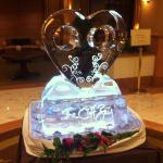 Ice Sculpture for Valentine's Day