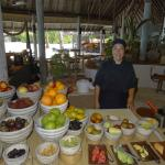 Chef Michi at the fruit station - breakfast buffet