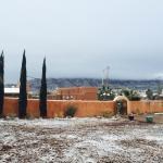 A little dusting the morning we checked out!