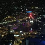 Darling Harbour fireworks from 75th floor