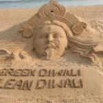 Sand art at puri beach