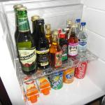 The amazing minibar in my room