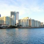 Looking at the hotel from the Condado Bridge