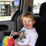 Finn really loves his shave ice!