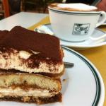 Tiramisu and Cappuccino in the Garden