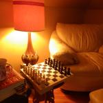 chess board in suite