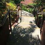 Stairs down to the beach and golf course
