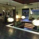 Reception & waiting area at the Veli Spa!
