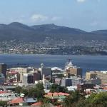 Views overlooking the Derwent River from third floor apartment