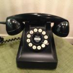 Quaint phone in the lobby
