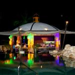 The Pool Gazebo Restaurant at night