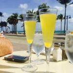 Yummy mimosas in the sun!!