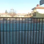 View outside our downstairs window (covered, winterized pool area)