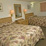 Pet-friendly rooms with two double beds.