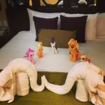 towel animals and my little ponies