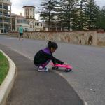 My daughter with her pennyboard