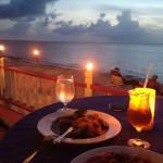 dinner at beachside cafe on site. beautiful!