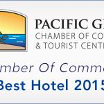 """Exellense Award from Chamber of Commerce Pacific Grove"""