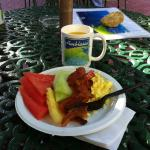 Great breakfast to be enjoyed by the pool.